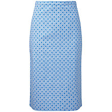 Buy Pure Collection Etty Mosaic Print Pencil Skirt, Blue Online at johnlewis.com