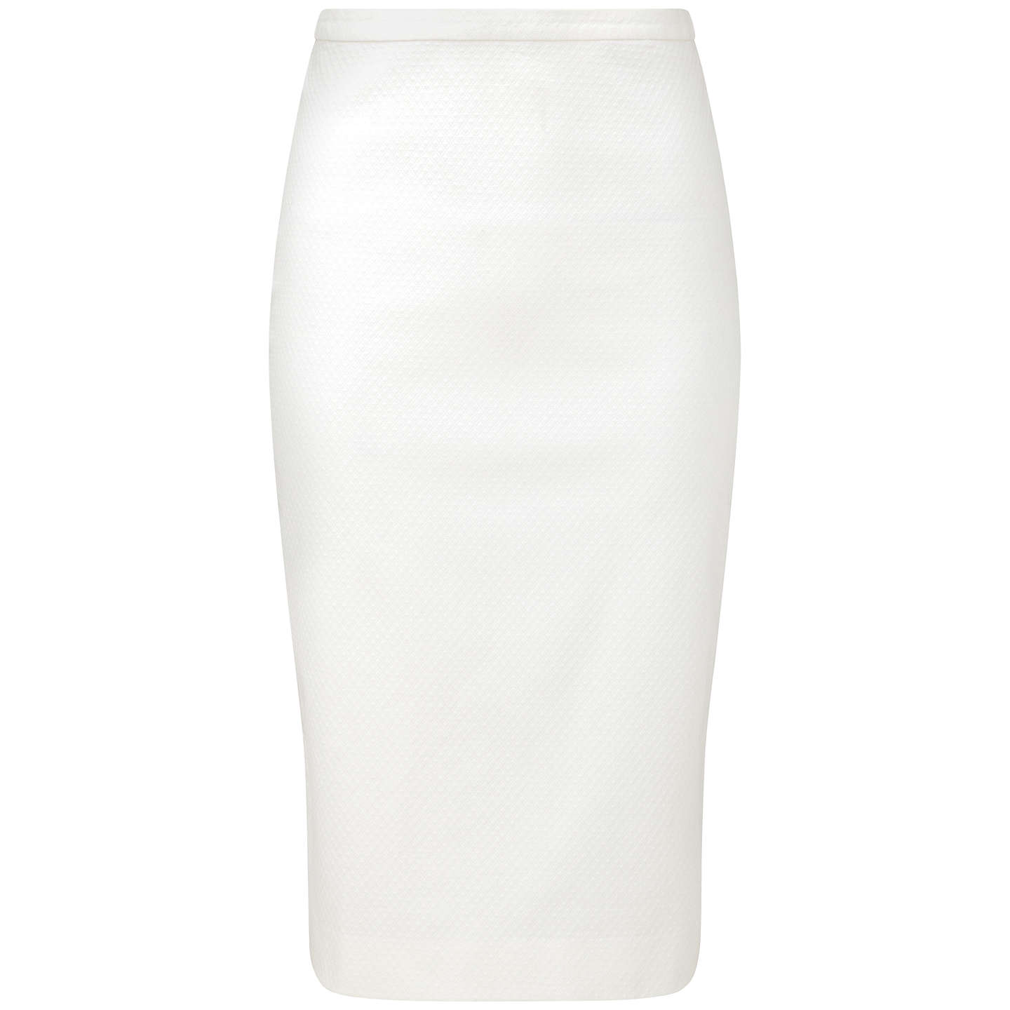 BuyPure Collection Guildford Textured Pencil Skirt, White, 8 Online at johnlewis.com