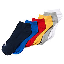 Buy Adidas Performance No-Show Unisex Training Socks, Pack of 6, Blue/Multi Online at johnlewis.com