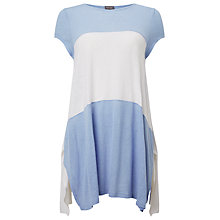 Buy Phase Eight Caroline Colour Block Top, Island Blue/White Online at johnlewis.com