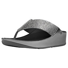 Buy FitFlop Crystall Toe Post Sandals, Pewter Online at johnlewis.com