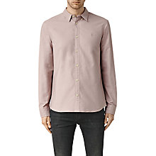 Buy AllSaints Hungtingdon Slim Fit Shirt, Pink Online at johnlewis.com