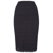 Buy Phase Eight Teagan Lace Skirt, Charcoal Online at johnlewis.com