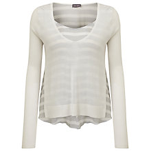 Buy Phase Eight Alondra Stripe Top, White/Grey Online at johnlewis.com