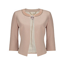Buy Phase Eight Belle Pearl Trim Jacket, Cosmetic Nude Online at johnlewis.com