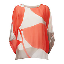 Buy Phase Eight Esmerelda Silk Top, Carmen Red/Multi Online at johnlewis.com