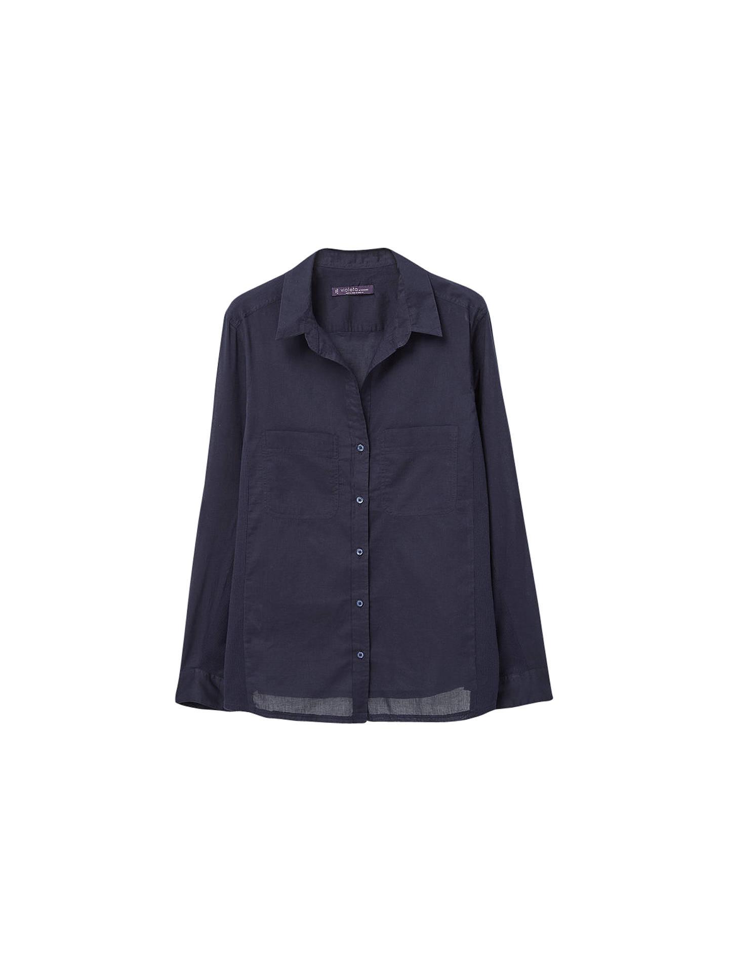 59143236ebd Violeta by Mango Chest Pocket Cotton Shirt at John Lewis   Partners