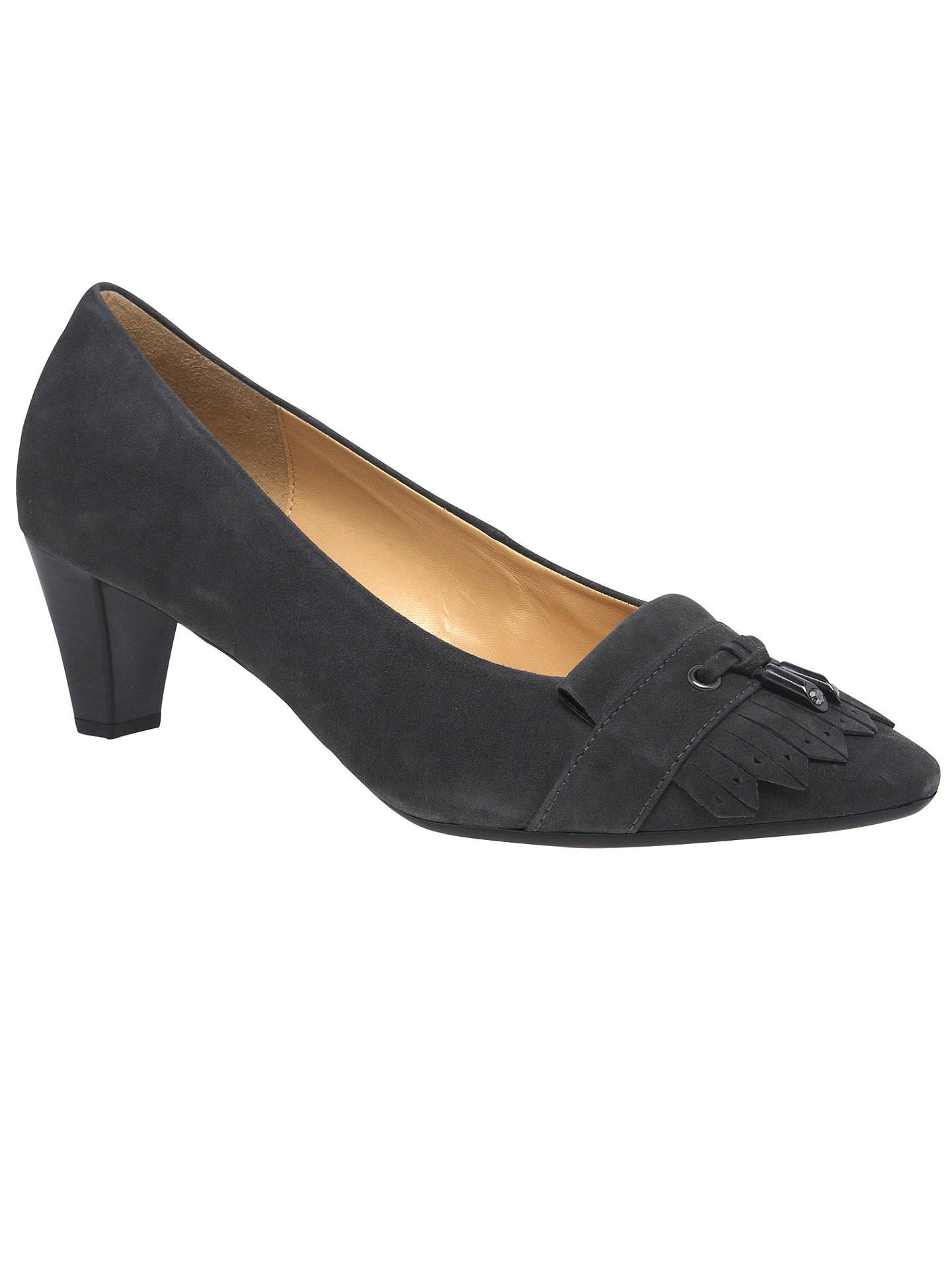 c285c1aef1 BuyGabor Brindon Fringed Court Shoes, Grey, 3 Online at johnlewis.com ...
