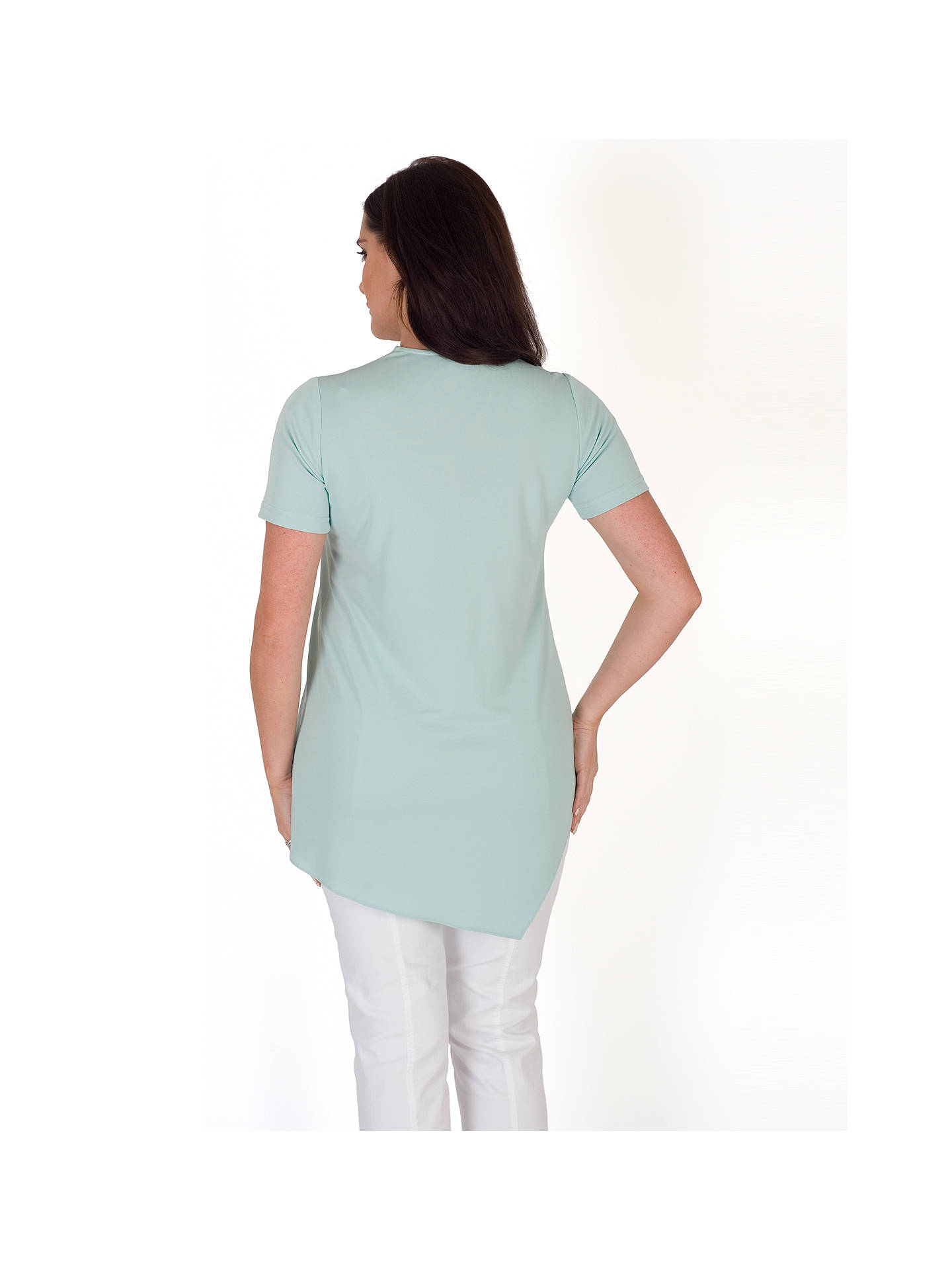 Buy Chesca Asymmetric Layered Jersey Top, Aqua, 12-14 Online at johnlewis.com