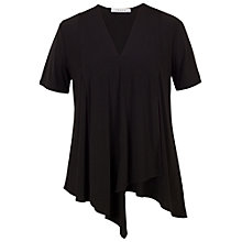 Buy Chesca Asymmetric Layered Jersey Top, Black Online at johnlewis.com