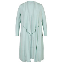 Buy Chesca Shawl Collar Jersey Coat, Aqua Online at johnlewis.com