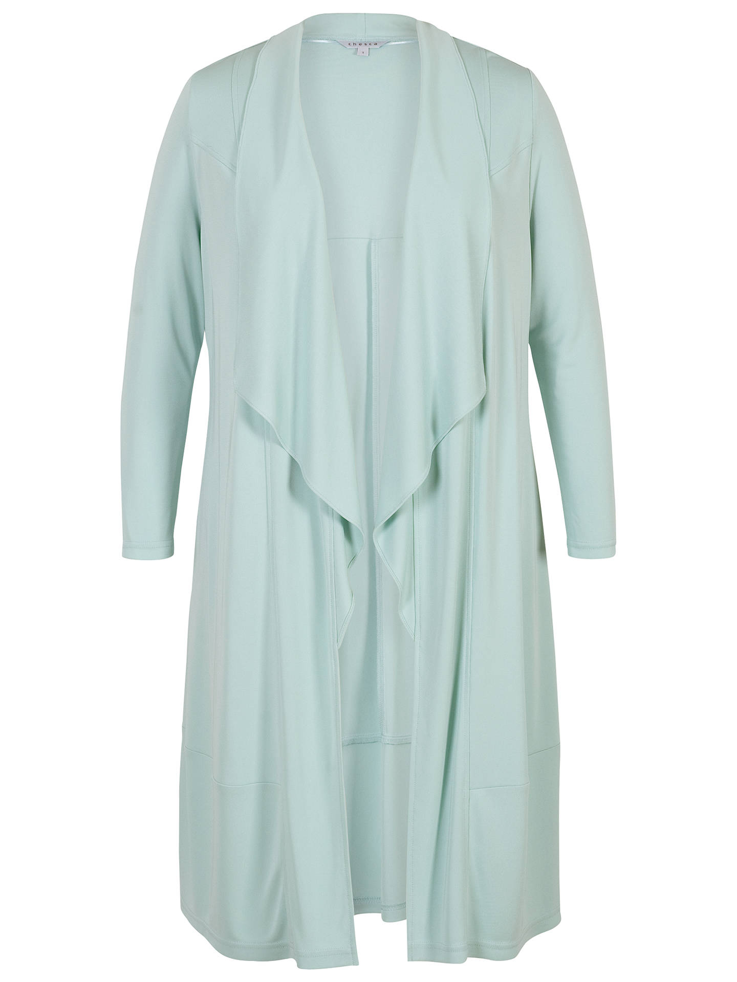 BuyChesca Shawl Collar Jersey Coat, Aqua, 12-14 Online at johnlewis.com