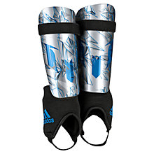 Buy Adidas Messi 10 Youth Shin Pads, Silver/Blue Online at johnlewis.com