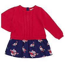 Buy John Lewis Baby Knitted Jumper Floral Dress, Pink Online at johnlewis.com