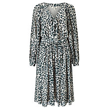 Buy Somerset by Alice Temperley Animal Print Pleated Dress, Grey Online at johnlewis.com