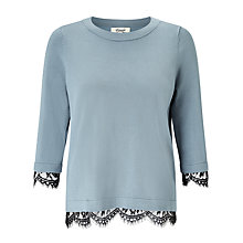 Buy Somerset by Alice Temperley Lace Knit Jumper, Dusty Blue Online at johnlewis.com