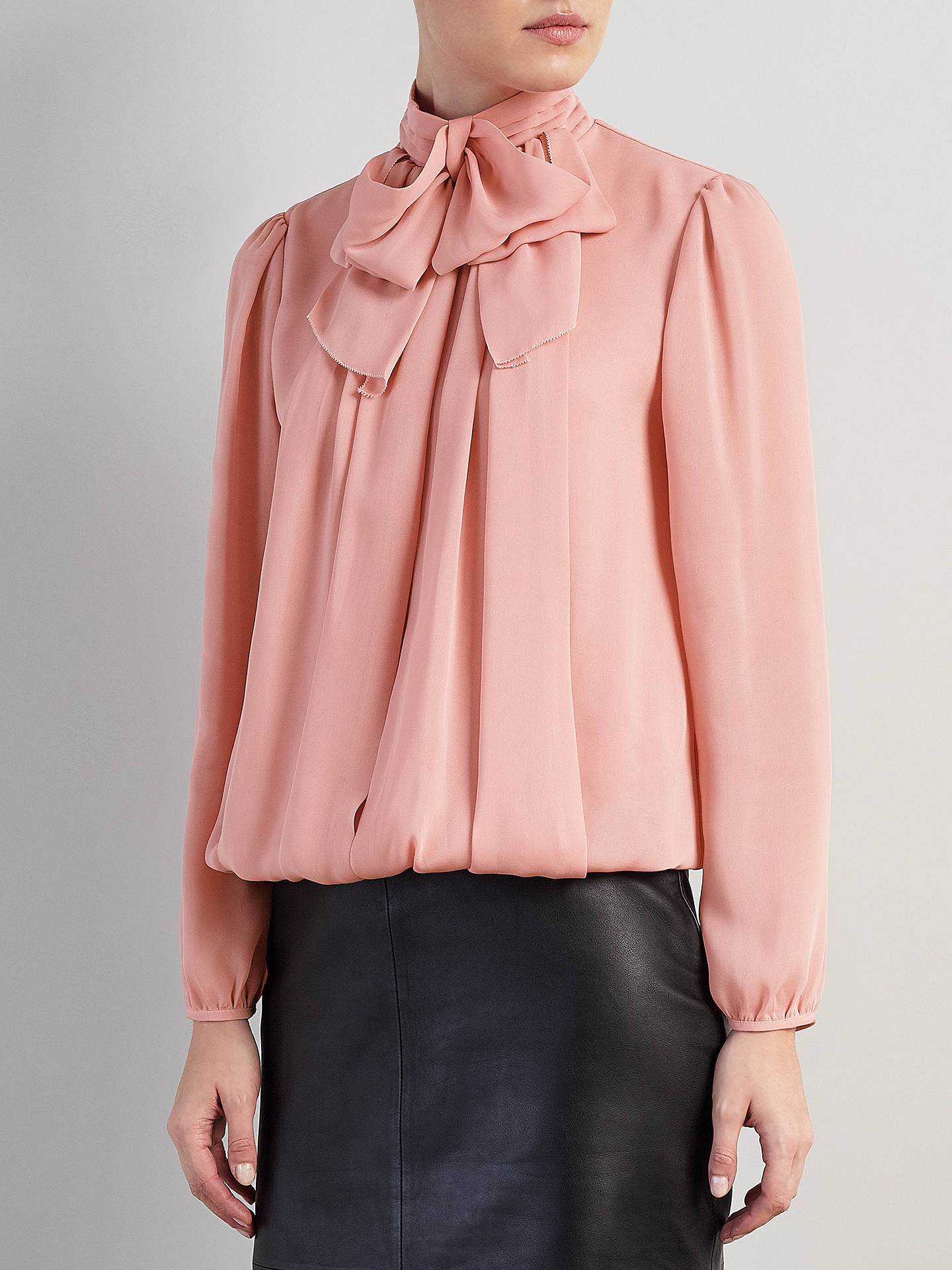 BuySomerset by Alice Temperley Bow Blouse, Blush, 6 Online at johnlewis.com