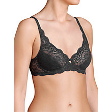 Buy Triumph Amourette 300 Underwired Bra, Black Online at johnlewis.com