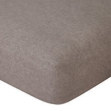 Buy John Lewis Chambray Brushed Cotton Fitted Sheet Online at johnlewis.com