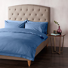 Buy John Lewis 400 Thread Count Crisp & Fresh Egyptian Cotton Bedding, Navy Online at johnlewis.com