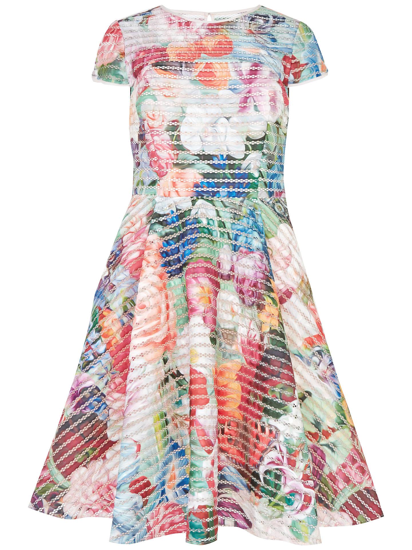 61ae8832da789 BuyTed Baker Dolci Floral Swirl Midi Mesh Dress