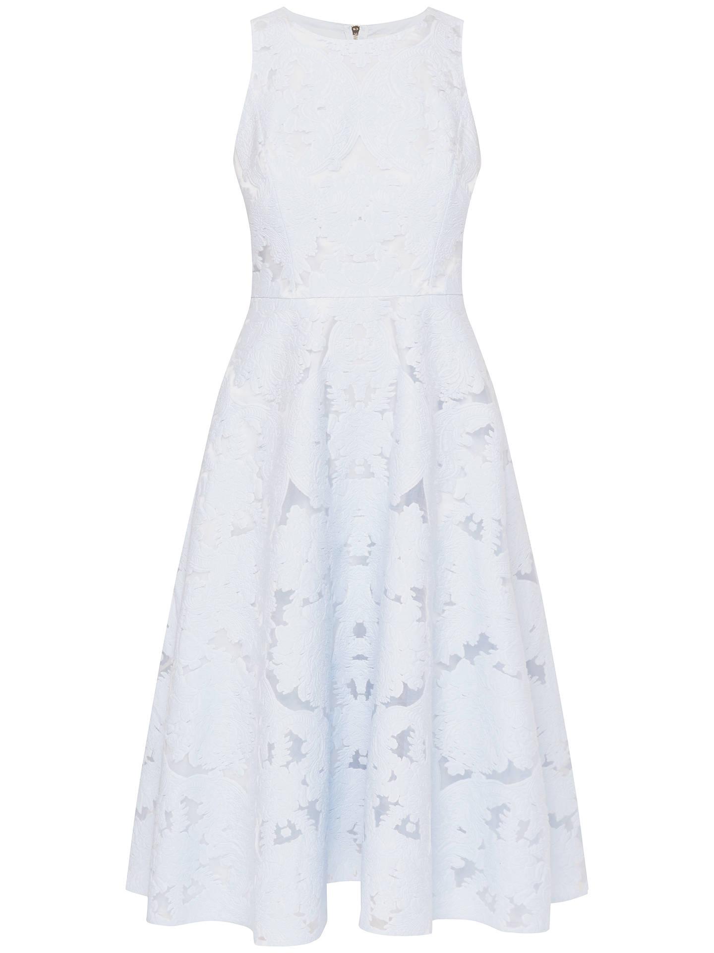 8683e1acd9ba4f Ted Baker Roshi Burnout Jacquard Midi Dress at John Lewis   Partners