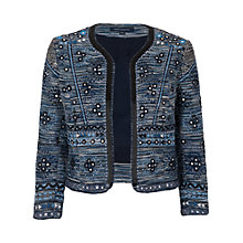 Buy French Connection Palm Valley Embellished Jacket, Blue Online at johnlewis.com