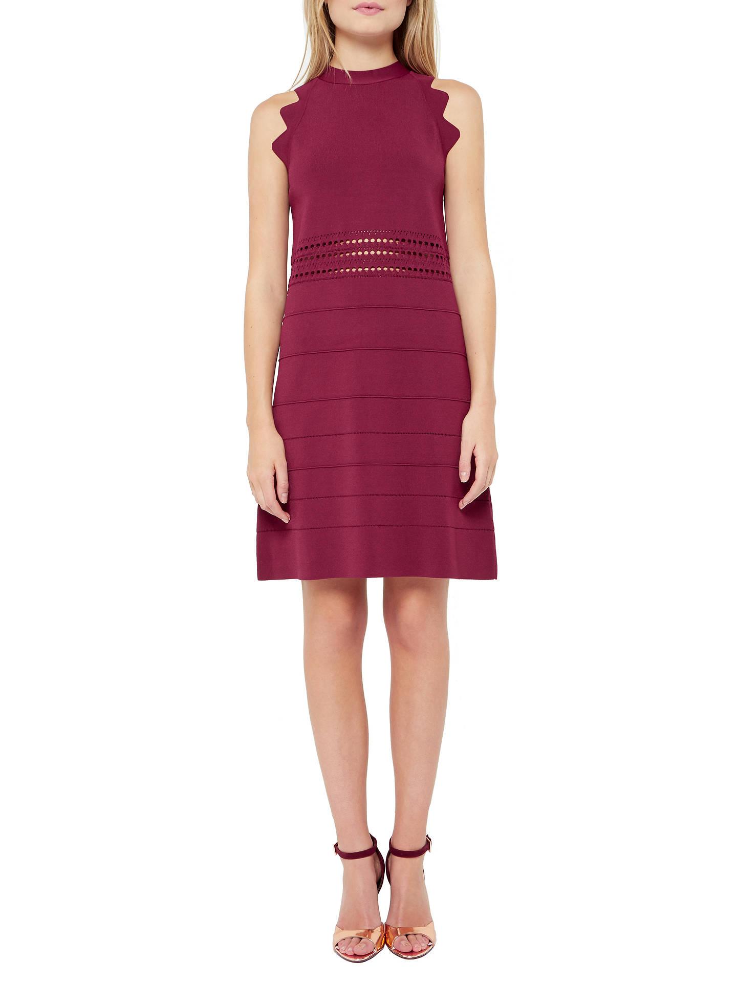d700fb3f6 Buy Ted Baker Natleah Scallop Detail Ribbed Dress