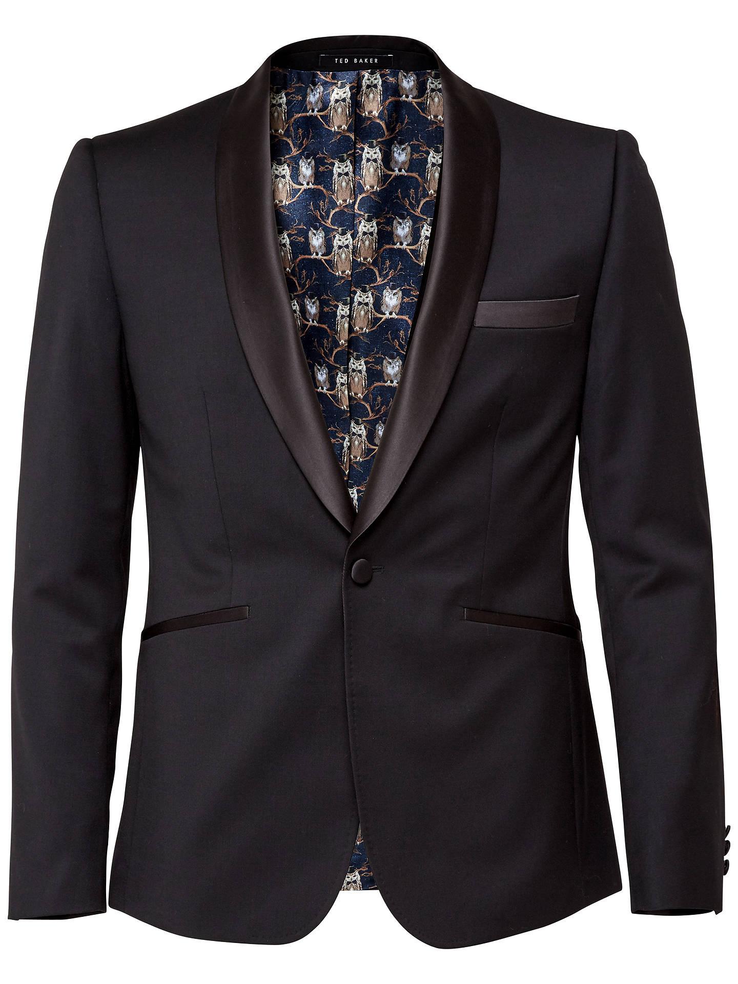 6e491bd9837 Buy Ted Baker Twilitj Tailored Wool Dinner Jacket, Black, 38S Online at  johnlewis.