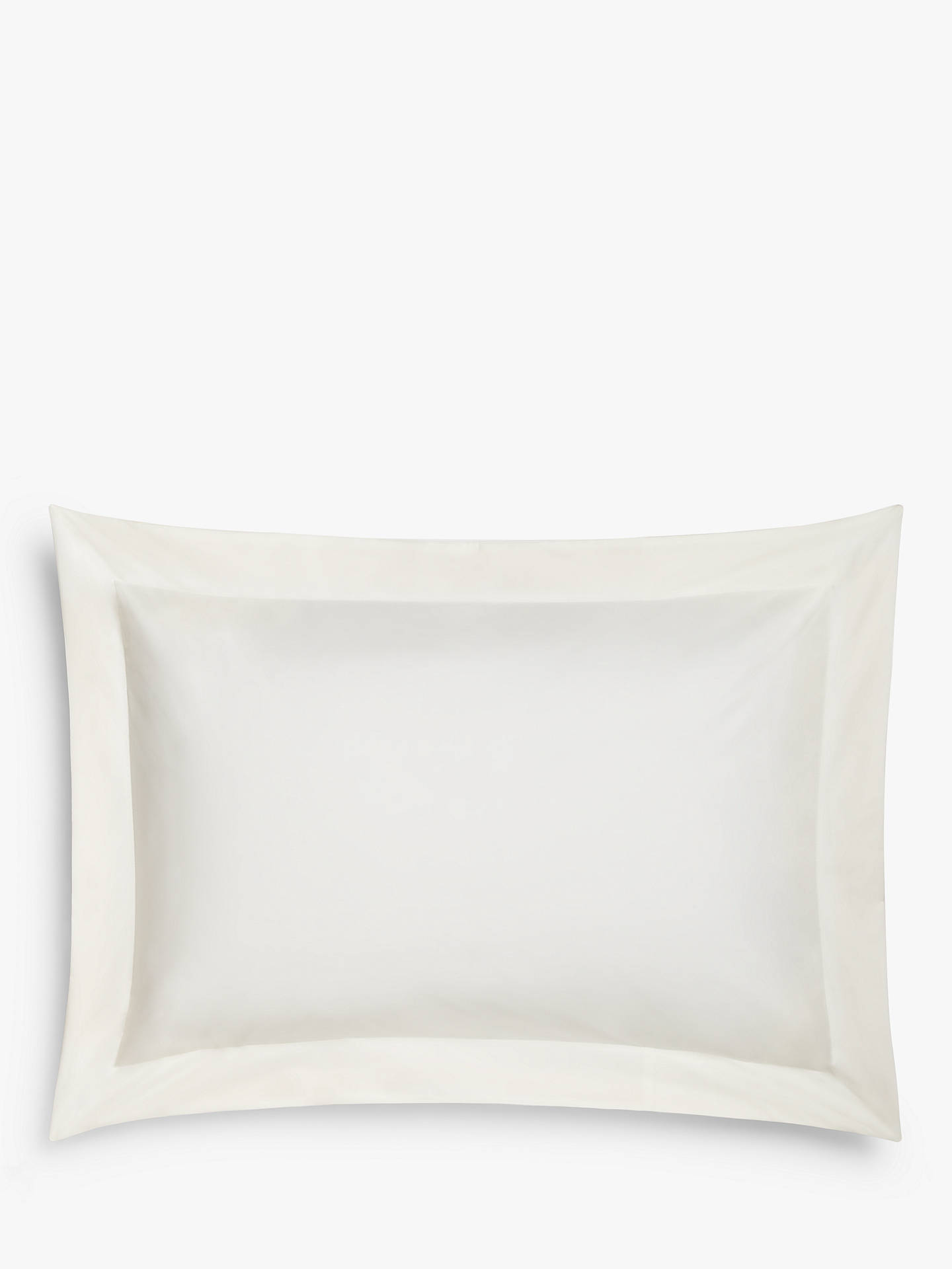 BuyJohn Lewis & Partners Easy Care 200 Thread Count Polycotton Standard Pillowcase, Cream Online at johnlewis.com