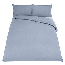 Buy John Lewis Soft & Relaxed 200 Thread Count Chambray Cotton Bedding Online at johnlewis.com
