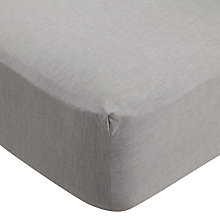 Buy John Lewis Crisp & Tailored Chambray Cotton Standard Fitted Sheet Online at johnlewis.com