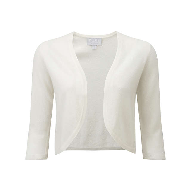 BuyPure Collection Cashmere Shrug, Soft White, 8 Online at johnlewis.com