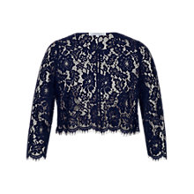 Buy Chesca Scallop Trim Lace Jacket Online at johnlewis.com