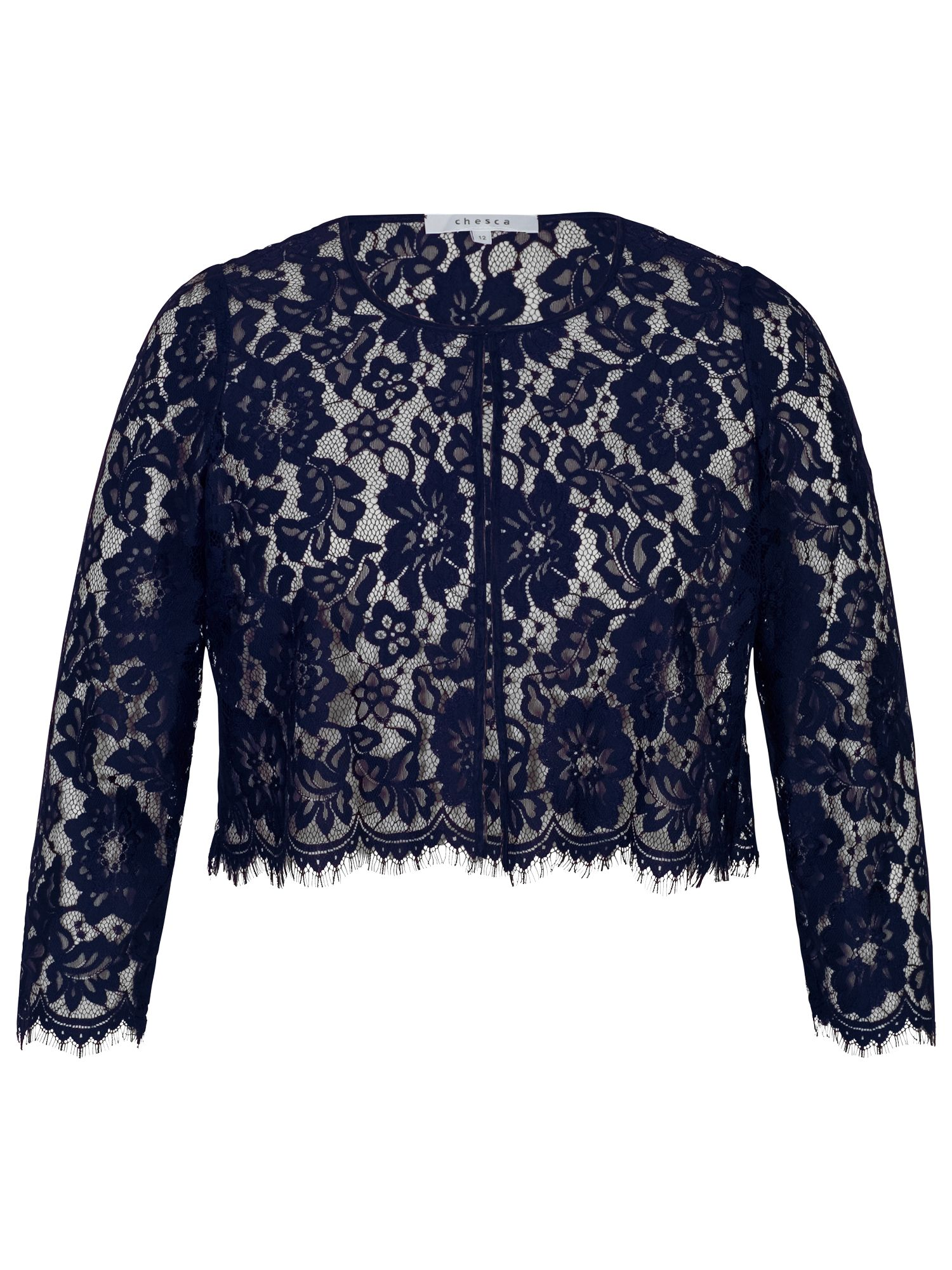 Chesca Chesca Scallop Trim Lace Jacket