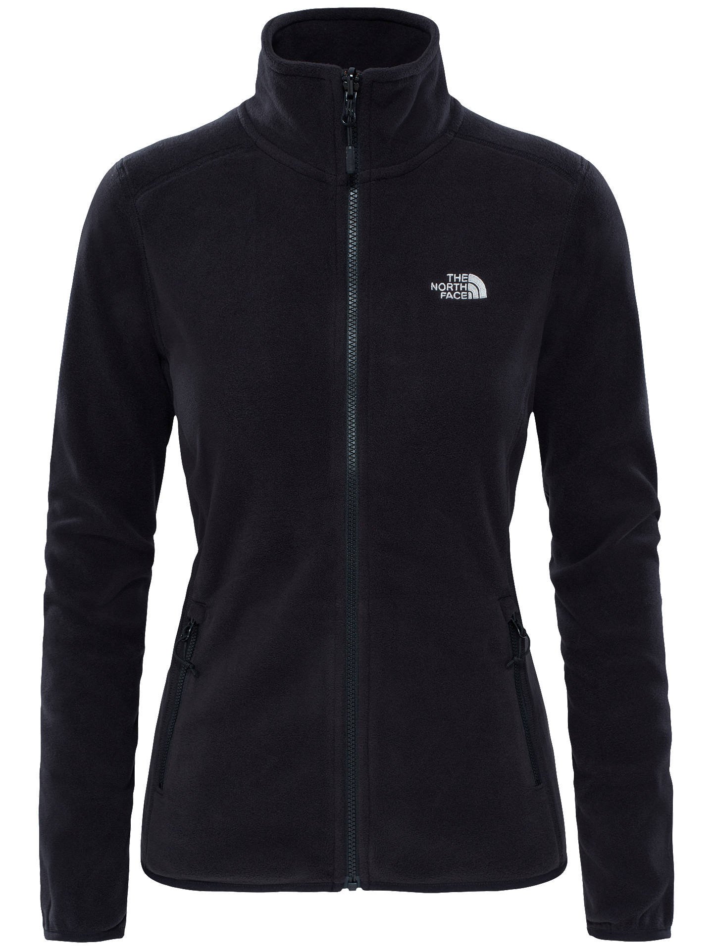 3afbc6b4c The North Face 100 Glacier Full Zip Women's Fleece, Black/Grey