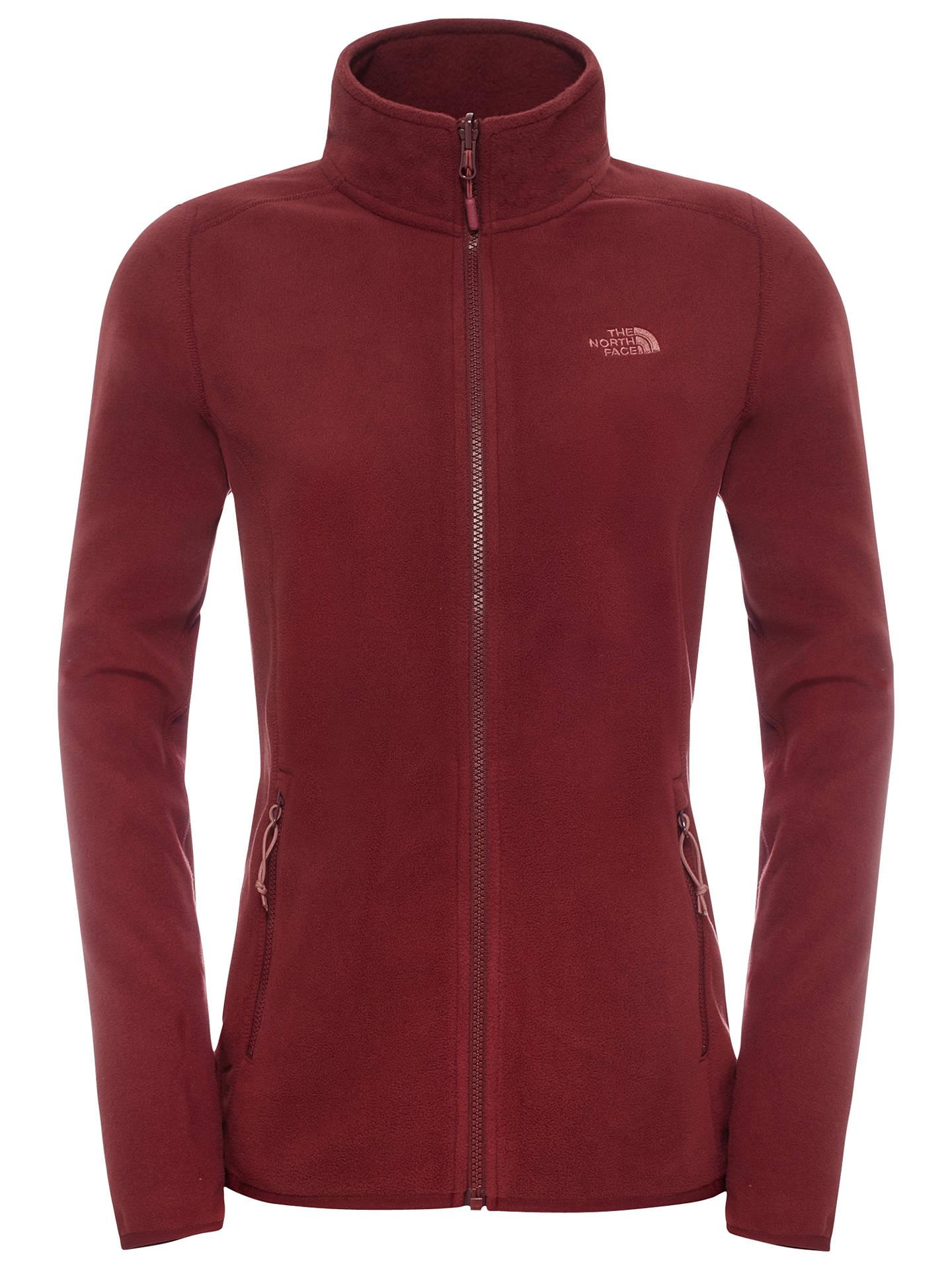 3730c25240 Buy The North Face 100 Glacier Full Zip Women's Fleece, Red, S Online at ...