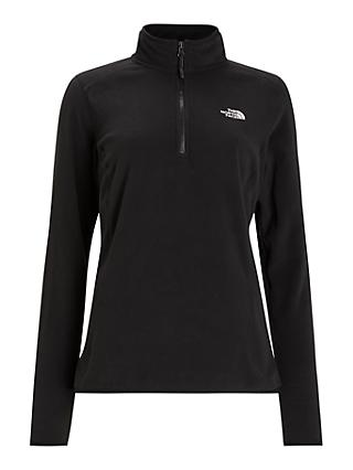 The North Face 100 Glacier 1/4 Zip Women's Fleece, Black