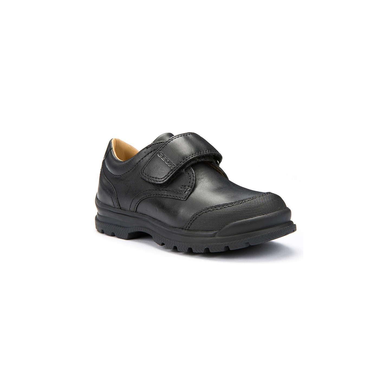Geox Children S William School Shoes Black 27 Online At Johnlewis