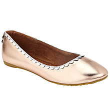 Buy John Lewis Children's Darcy Scallop Shoes, Rose Gold Online at johnlewis.com
