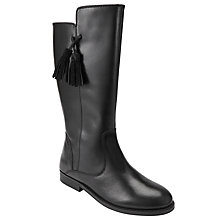 Buy John Lewis Children's Georgina Tassel Leather Riding Boots, Black Online at johnlewis.com