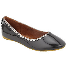 Buy John Lewis Children's Darcy Scallop Shoes, Grey Online at johnlewis.com