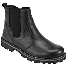 Buy John Lewis Children's Leather Chelsea Boots, Black Online at johnlewis.com