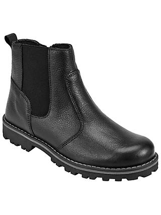 John Lewis & Partners Children's Leather Chelsea Boots, Black