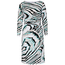 Buy Gina Bacconi Abstract Print Jersey Dress, Turquoise Online at johnlewis.com