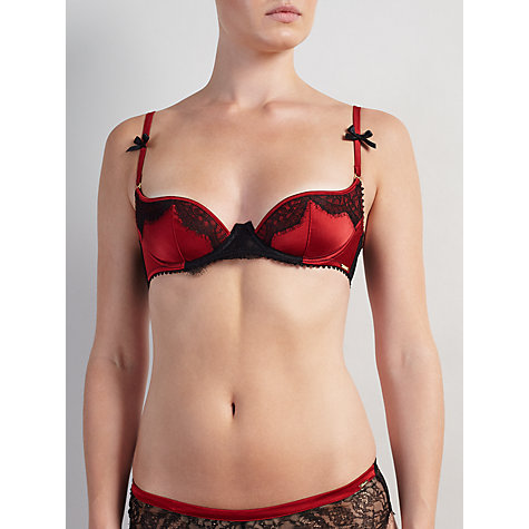 Buy Somerset by Alice Temperley Alexis Lace Trim Demi Half Cup Bra, Rust Online at johnlewis.com