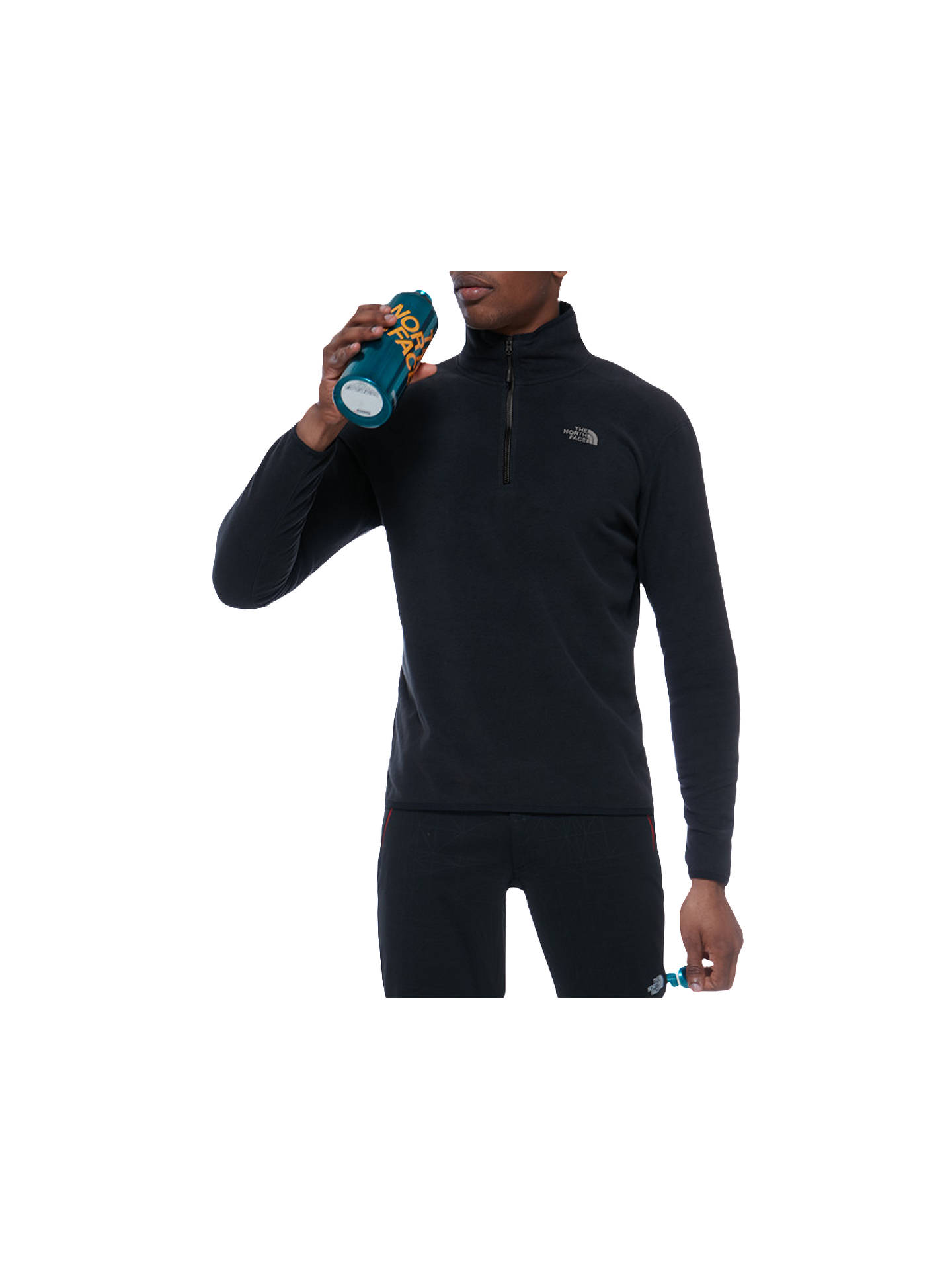 The North Face 100 Glacier 1 4 Zip Men s Fleece at John Lewis   Partners ab2950bb8