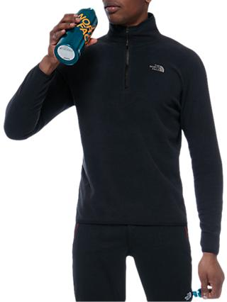 The North Face 100 Glacier 1/4 Zip Men's Fleece, Black