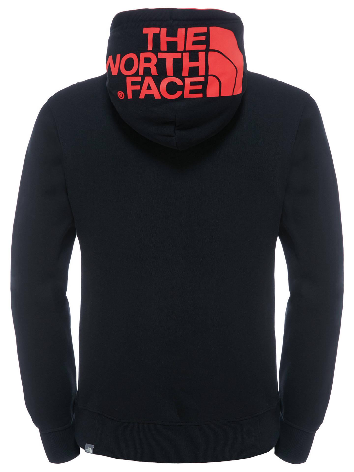4897fa6b4 The North Face Drew Peak Hoodie, Black/Red at John Lewis & Partners