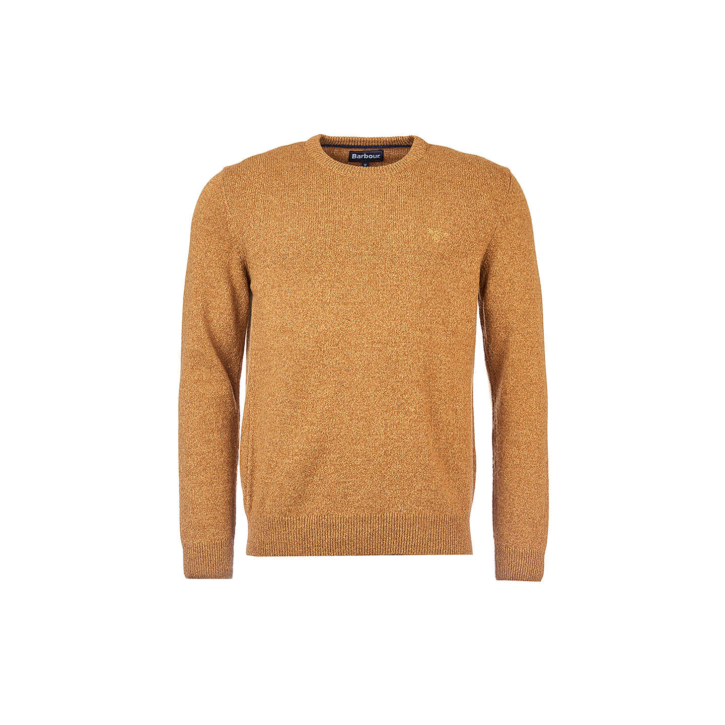 BuyBarbour Tisbury Lambswool Crew Neck Jumper, Copper, S Online at johnlewis.com